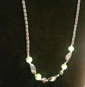 Hematite look necklace